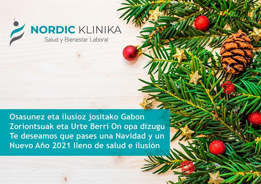 felicitación navidad Nordic Klinika Vitoria