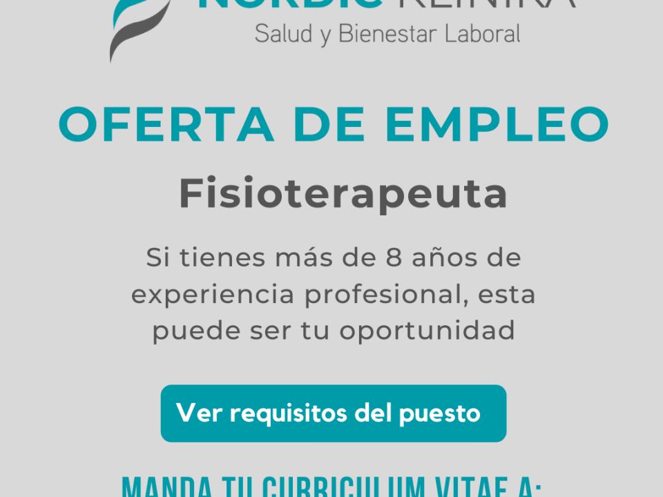 oferta empleo fisioterapeuta vitoria