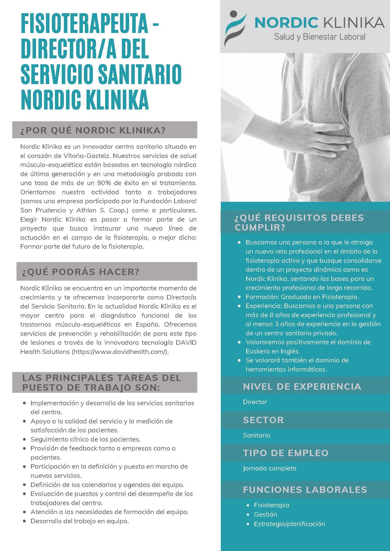 requisitos oferta empleo fisioterapeuta vitoria